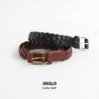 (8003)ANGLO LEATHERCRAFT(アングロレザークラフト)28mm 4PLY BRAIDED BELT/メッシュベルト【ゆうパケット対象外】D