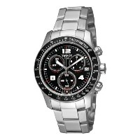 ティソ Tissot 腕時計 メンズ 時計 Tissot Men's T0394171105700 Tissot V8 Black Chronograph Dial Watch