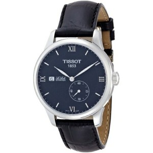 ティソ Tissot 腕時計 メンズ 時計 Tissot Le Locle Black Dial Stainless Steel Leather Men's Watch T0064281605800