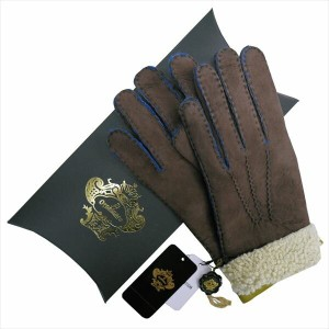 OROBIANCO オロビアンコ メンズ手袋 ORM-1410 Leather glove 羊革 DARKBROWN LIME サイズ:8.5(24cm) プレゼント クリスマス【送料無料】...