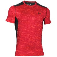 アンダーアーマー メンズ トップス Tシャツ【Under Armour Raid Short Sleeve T-Shirt】Rocket Red/Black