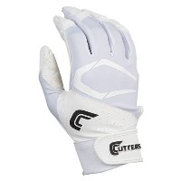 カッターズ メンズ 野球 グローブ【Cutters Power Control 2.0 Batting Gloves】White/White