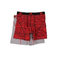 アディダス メンズ ブリーフパンツ アンダーウェア Sport Performance Climalite Graphic 2-Pack Boxer Brief Scarlet Looper Grey