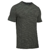 アンダーアーマー メンズ Tシャツ トップス Men's Under Armour Threadborne Knit S/S Fitted T-Shirt Downtown Green/Black