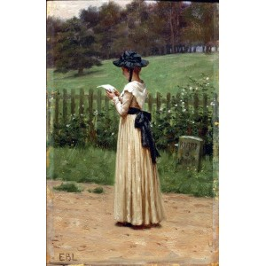 油絵 Edmund Blair Leighton_ 恋文