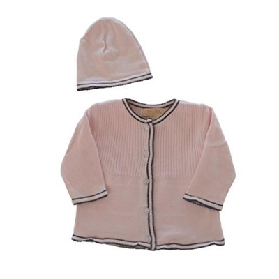 Boutique Collection Girl's Crew Neck Buttown Sweater 9 Months Pink by Boutique Collection