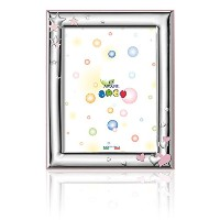 Silver Touch USA Sterling Silver Picture Frame, Hearts and Stars, Pink, 3.5 X 5 by Silver Touch USA