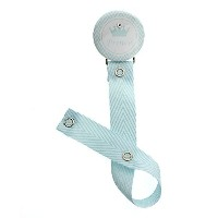 Prince Light Blue Pacifier Clip with Matching Blue Ribbon (RBPC) by Crystal Dream