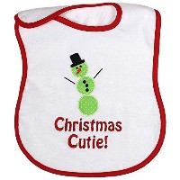 Raindrops Embroidered Bib, Christmas Cutie/Red by Raindrops