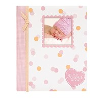 Lil' Peach Confetti Dot Baby Memory Book, Pink by Unknown