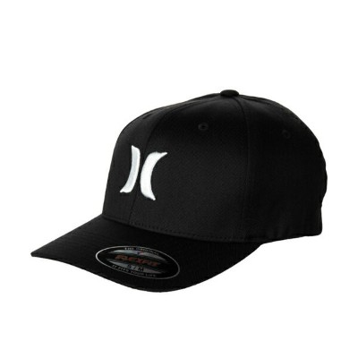 Hurley Men's One & Only Black Flex-Fit Hat  キャップ MAFCOOBLK WHT 帽子【あす楽対応】【楽ギフ_包装】