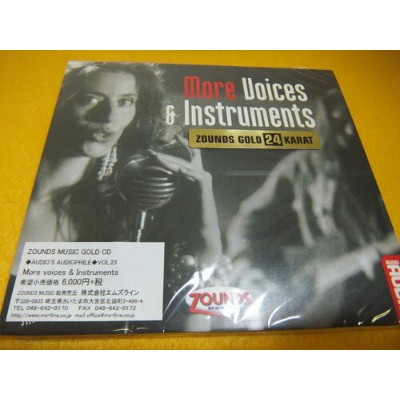 ☆CD:More Voice and Instruments Audio's Audiophile N0.23 ZOUNDS GOLD 24 KARAT ゴールドディスク Zounds Music...