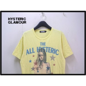 M 【HYSTERIC GLAMOUR THE ALL HYSTERIC GIRL TEE ヒステリックグラマー Tシャツ Hero】No.0204CT05 YELLOW【中古】