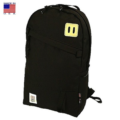 TOPO DESIGNS トポ デザイン Day Pack Black デイパック ブラック バックパック リュックサック アメリカ製