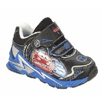 Disney(ディズニー)Boy's Cars Blue and Black Light-Up Sneakersカーズのライトアップスニーカー 8(15.2cm)