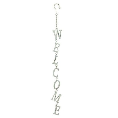 JARDEN FER WELCOME SIGN WHITE サインプレート WELCOME アンティーク 看板 壁掛け 送料込