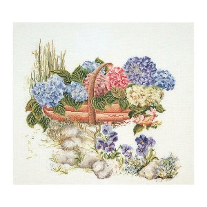 Thea Gouverneur クロスステッチ刺繍キットNo.2063 「Mixed Hydrangea」(アジサイ 紫陽花 あじさい 花) オランダ テア・グーヴェルヌール 【取り寄せ/納期40...
