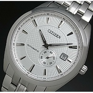CITIZEN/Automatic【シチズン/オートマチック】自動巻 メンズ腕時計 シルバー文字盤 メタルベルト MADE IN JAPAN 海外モデル【並行輸入品】 NJ0030-58A