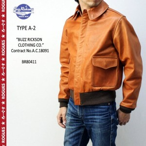 "BUZZ RICKSON'S バズリクソンズ フライトジャケットType A-2""BUZZ RICKSON CLOTHING CO."" Contract No.A.C.18091BR80411..."