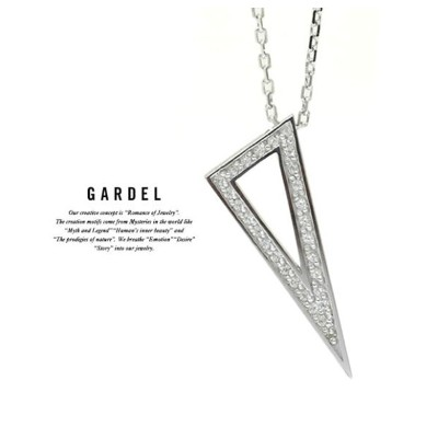 GARDEL ガーデル GDP-141 TO,ME,Collection Triangle Necklace 三角 トライアングル ネックレス Silver シルバー