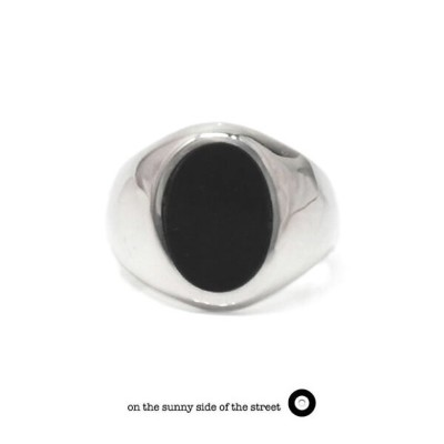 on the sunny side of the street オンザサニーサイドオブザストリート710-322/BLACK Silver x Buffalo Horn Signet Ring...