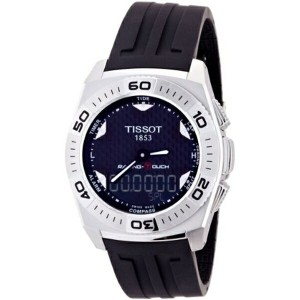 ティソ Tissot 腕時計 メンズ 時計 Tissot Men's T002.520.17.201.01 Black Tactile Dial Watch