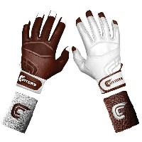 カッターズ メンズ 野球 グローブ【Cutters Prime Command Yin Yang Batting Gloves】Maroon/White