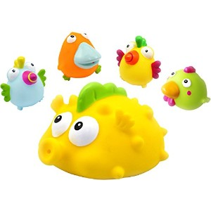 Giant Floater and 4 Squirters, Set of 5 by Konfetti