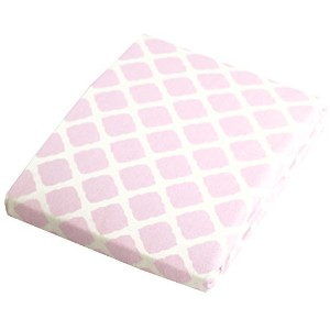 Kushies Baby Fitted Change Pad Sheet, Pink Lattice by Kushies