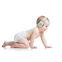 BEBE Muff Hearing Protection - BEST USA Certified Noise Reduction Ear Muffs, Silver, 3 months+ by...