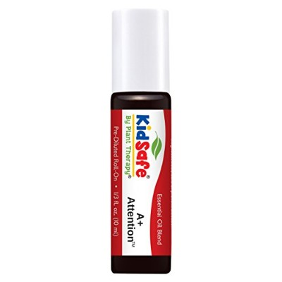 Plant Therapy KidSafe A+ Attention Synergy Pre-Diluted Essential Oil Roll-On. Ready to use! Blend...