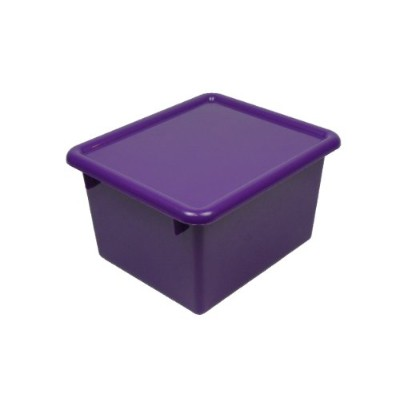 Romanoff Small Stowaway Shelf Box/Lid Purple
