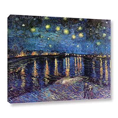 """Starry Night Over the Rhone by Vincent Van GoghギャラリーWrappedキャンバスアート 18"""" x 24"""" ブルー 0van007a1824w"""