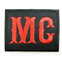 Red Mc Motorcycle Club Military Biker Patch Embroidered Iron on Hat Jacket Hoodie Backpack Ideal...