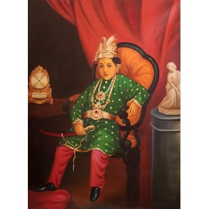 The Portrait of a Young Prince - Oil on Canvas - Artist: Anup Gomay