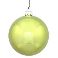 (7.6cm , Lime) - Vickerman Shiny Finish Seamless Shatterproof Christmas Ball Ornament, UV Resistant...