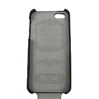 iPhone5用PUレザーケース(エンボス レザー) 上開きタイプPU Leather Case for iPhone 5(送料無料)