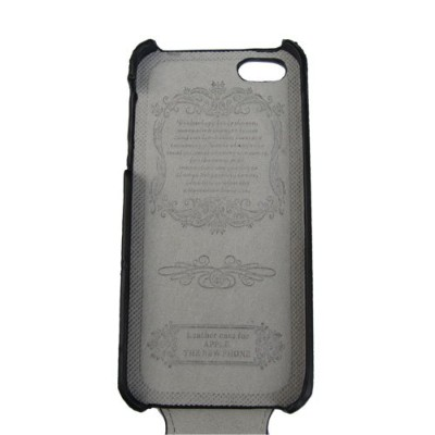 iPhone5用PUレザーケース(エンボス レザー) 上開きタイプPU Leather Case for iPhone 5