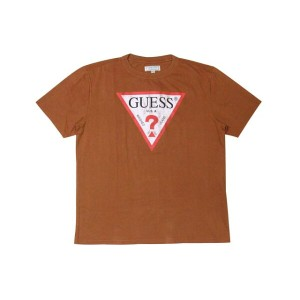 GUESS JEANS ORIGINALS CLASSIC LOGO T-SHIRTS (BROWN)ゲス/Tシャツ/茶色