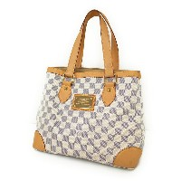 【LOUIS VUITTON】【made in U.S.A】ルイヴィトン『ダミエ アズール ハムステッドPM』N51207 レディース トートバッグ 1週間保証【中古】b01b/h02AB