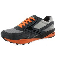 Brooks Heritage Men 's Regent無煙炭/ Orange Clown Fish / Sleet 9.5 D US