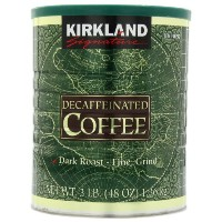 Kirkland Signature Decaffeinated Coffee Dark Roast Fine Grind 1.36kg Pack