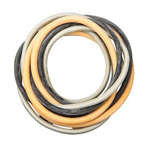 CanDo? Low Powder Exercise Tubing Pep? Pack - Challenging with Black, Silver, and Gold tubing
