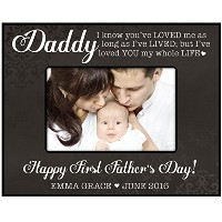 Personalized Gifts for Dad Happy最初父の日カスタム写真フレーム 9.75 X 7.75 ブラック ZFCD02