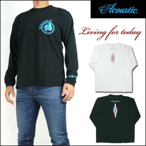 ACOUSTIC アコースティック メンズ Tシャツ 長袖Tシャツ/LIVING FOR TODAY AC7311 プレゼント ギフト