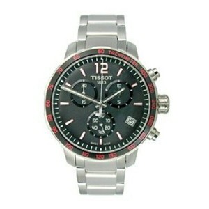 ティソ Tissot 腕時計 メンズ 時計 Tissot Quickster Chronograph Stainless Steel Men's watch #T095.417.11.057.00