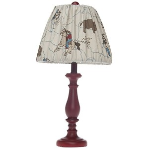 Sweet Potato Lamp, Red Base with Cowboy Shade by Sweet Potatoes