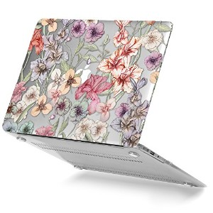 GMYLE Soft-Touch Crystal Print Hard Case Macbook Air 13 inch (A1369 & A1466)專用 - Floral Garden...