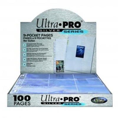Ultra Pro 9-Pocket Silver Series Pages for Standard Size Cards by Ultra Pro