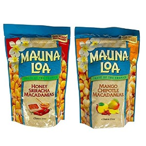 【海外直送品】【2種セット】Mauna Loa Hawaiian Roasted Macadamia Nuts (Honey Siracha & Mango Chipotle) 各 11 Ounce...